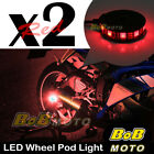2x Red 360 Degree Cycle Rim Wheel SMD LED Pod Light For KTM Motorcycles