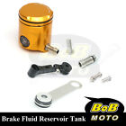 For Suzuki SV 650 S 03 04 05 06 07 Gold CNC Front Brake Cylinder Fluid Oil Tank