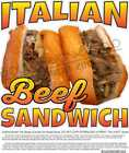 Italian Beef Sandwich Concession Food Truck Restaurant Vinyl Sticker Sign Decal