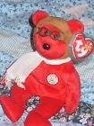 TY BEANIE BABY BEAR - BEARON (RED) 2003 - HANG PROTECTED - EXCELLENT CONDITION