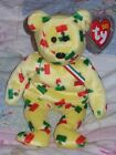 TY BEANIE BABY BEAR - PINATA 2003 BLACK NOSE - HANG TAG PROTECTED - EXCELLENT