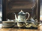 Vintage Japanese Tea Set Moriage Dragonware set 15pc