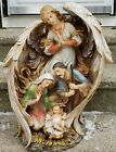 Guardian Angel Holy Family Nativity Scene Cast Resin Outdoor Figurine Statue 20