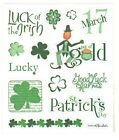 1 Small Sheet of St Patricks Day Sentiment Stickers