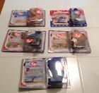 Lot of 5 McDonald's TY Beanie Babies Steg Bronty Peanut Lefty Humphrey