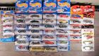 Lot of 40 Hot Wheels die cast cars NEW on cards 164 scale see detail list below