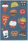 1 Small Sheet of Funny Face Food Stickers from American Greetings