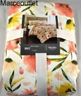 Martha Stewart Painted Poppies Reversible FULL QUEEN Quilt Sunset Floral