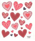 1 Small Sheet of Decorative Heart Stickers by Paper Crafts