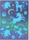 1 Sheet of Foiled Unicorn Stickers