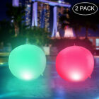 15 4 Colors RGB LED Floating Ball Lamp Drift Light Garden Swimming Pool Decor