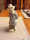 Lladro Little Traveler 1986 Collectors Society Clown. Excellent