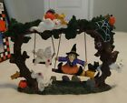 Vintage Halloween Spooky Hollow Witch PolyResin Swing 1998