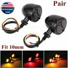 Motorcycle LED Bullet Brake Running Turn Signal Tail Light For Bobber Cafe Racer