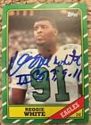 1986 Topps Football Complete Set 396 REGGIE WHITE AUTOGRAPH RC Rice Young RC