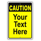 Caution Personalized Text And Custom Design Novelty Aluminum Metal Sign