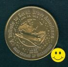 Challenger Space Shuttle Heavy Antique Bronze Doubloon Coin 1987