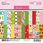 Bella Blvd Double Sided Paper Pad 6X6 24 Pkg Santa Squad 12 De 815462029601