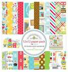 Doodlebug Double Sided Paper Pack 12X12 12 Pkg I Heart Travel 842715064188