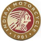 Indian Motorcycle 1901 Embroidered Patch Iron On Sew On fast US shipping Biker