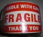 Fragile Handle With Care Thank You 3x5 Red Sticker 10-20-50-100-500 Labels