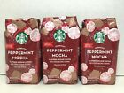 Starbucks Holiday Peppermint Mocha Flavored Ground Coffee 11 Oz 3 Bags 2020