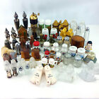 Large Lot Vintage Salt And Pepper Shakers Huge Collection Ceramic Glass Metal