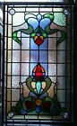 Beautiful Traditional Art Nouveau Victorian Design Stained Glass Leaded Panel
