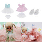2 Set Handmade 1 12 Doll Party Dress w Sneakers for Ob11 Dress up Outfits