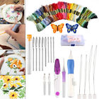 Embroidery Stitching Punch Needle Tool Set +50 Mix Colors Knitting Sewing Thread
