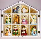 Santas World Kurt S Adler Childs First Nativity 10 Hand Carved Wooden Figures