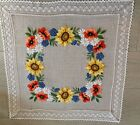 German Tablecloth Embroidered Handmade