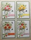 Stampin Up Jar Of Love Flower Card KIT of 4 4 Variations To This Set