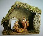 Fontanini Nativity Starter Set 54710 5 Inch Scale w Wooden Stable Orig 110 NEW