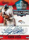 RARE FLOYD LITTLE SIGNED 2010 NATIONAL TREASURES CARD FOOTBALL HALL OF FAME #36