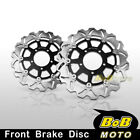 For Kawasaki Z 750 ABS 07 08 2009-2012 2x Stainless Steel Front Brake Disc Rotor