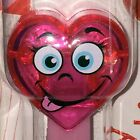 PEZ Candy Dispenser: SILLY Crystal HEART Valentines Day 2020 -6- on card -pink-