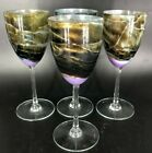 4 Steven Maslach Volcano Art Wine Glasses 85 Excellent