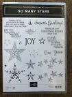 Stampin Up retired SO MANY STARS Stamp Set Christmas Joy love sentiments