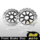 For Aprilia MANA850NA 2007 2008 2009 2x Stainless Steel Front Brake Disc Rotor