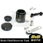 For Ducati 748 996 998 916 All Black CNC Front Brake Cylinder Fluid Oil Tank