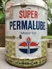 Vintage American Oil Company Can 5 Gallon Motor Oil Amoco Gas Permalube