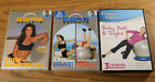 Used DVD Lot of 3 Exercise Ball Core Secrets Fundamentals Full Body Workout