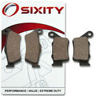 Front + Rear Ceramic Brake Pads 2004 ATK 620 Intimidator Set Full Kit 2T fi