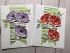 Watercolored Poppies Flower Greeting Card KIT Of 4 Stampin Up