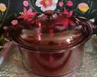 Corning Ware Visions Dutch Oven 5L with Lid Cranberry Color