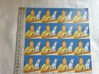 TINTIN planche recto verso type dominos  dcouper HERGE ML 2004 objet rare