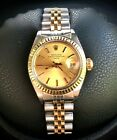Rolex Date Ladies 18k Yellow Gold & Stainless Steel 6917  26mm
