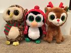 Ty Beanie Boos Lot of 3 Christmas Wise, Freeze & Comet