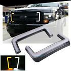 2X For 2009 14 Ford F150 Grill Switchback LED White DRL Amber Turn Signal Lights